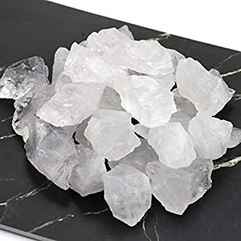 FIREBOOMOON 2lb/950g Rough Natural Clear Quartz Stone Raw Stone Gemstone Crystal Rock for Cabbing,Tumbling,Cutting,Polishing,Lapidary,Wire Wrapping,Healing Reiki,Jewelry Making,Decoration White