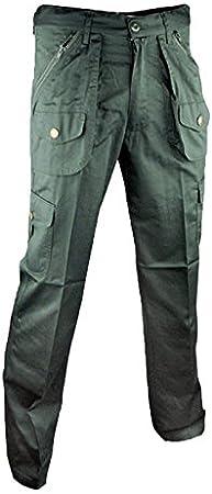 Pantaloni Pantalone Calzoni Policotone Caccia Sport Uomo Tasche