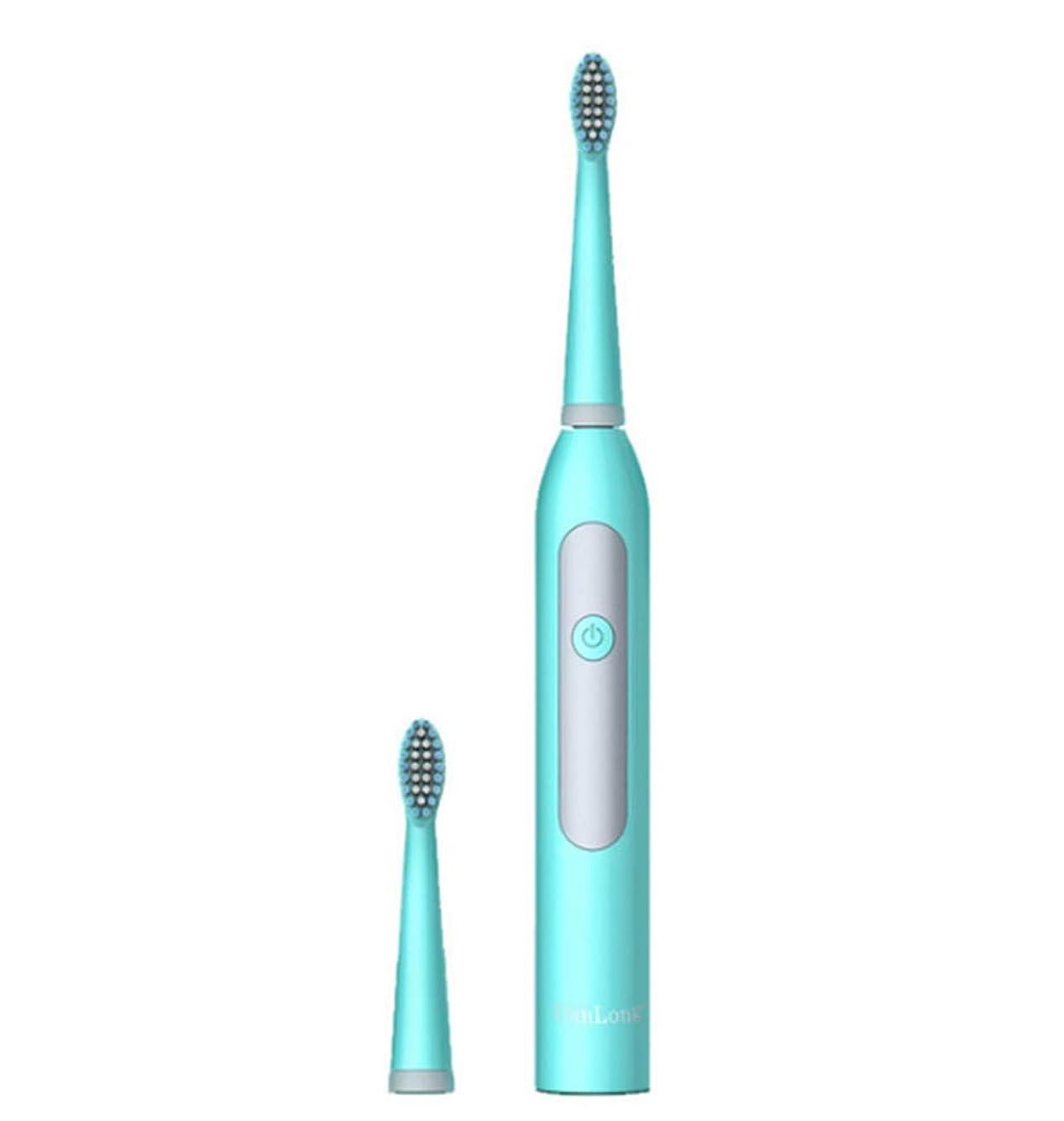 克服する進化パワーセル電動歯ブラシ超音波洗浄大人子供ユニバーサルIpx7防水バッテリー駆動ソフトヘア歯ブラシ2ブラシヘッド