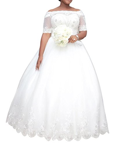 Dreamdress Women S Plus Size Wedding Dresses Half Sleeve Lace Bridal Ball Gowns Buy Online In India Missing Category Value Products In India See Prices Reviews And Free Delivery Over 4 000 Desertcart,Jewel Top Wedding Dress
