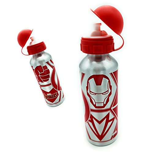 Botella Agua Niños, botella acero inoxidable niños Avengers 520 ml