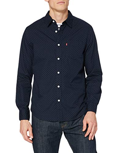 Levi's Classic 1 Pkt Standard Camisa, Ditzydot Nightwatch, S para Hombre