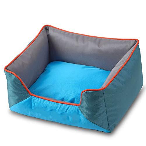 ZISTA -hondenmand hondenmand Cat Nest All Seasons zwinger voor kleine medium grote honden afneembare puppy sofa ligkussen, blauw, M