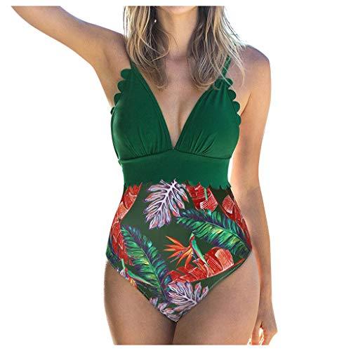 Bañadores de Mujer Casual Trajes de Baño de Una Pieza para Mujer Body Trikini Moda Sexy Natacion Ropa de Playa para Vacaciones Push Up Braga con Estampadas Elasticos