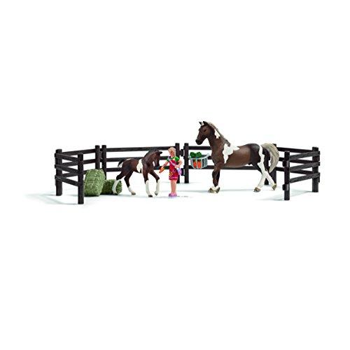 Schleich - 21049 - Accessoire pour figurine - Kit de jeu nourriture pour chevaux