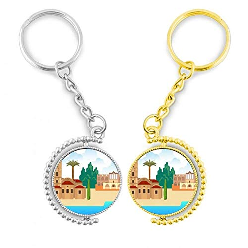 DIYthinker Historische Geschichte des Landes der Türkei, Ring aus vergoldetem Metall, Tür – Schlüssel