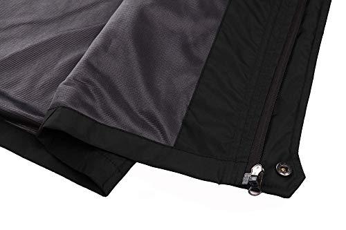 TACVASEN Women's Lightweight Waterproof Softshell Jacket Raincoat with Detachable Hood 6