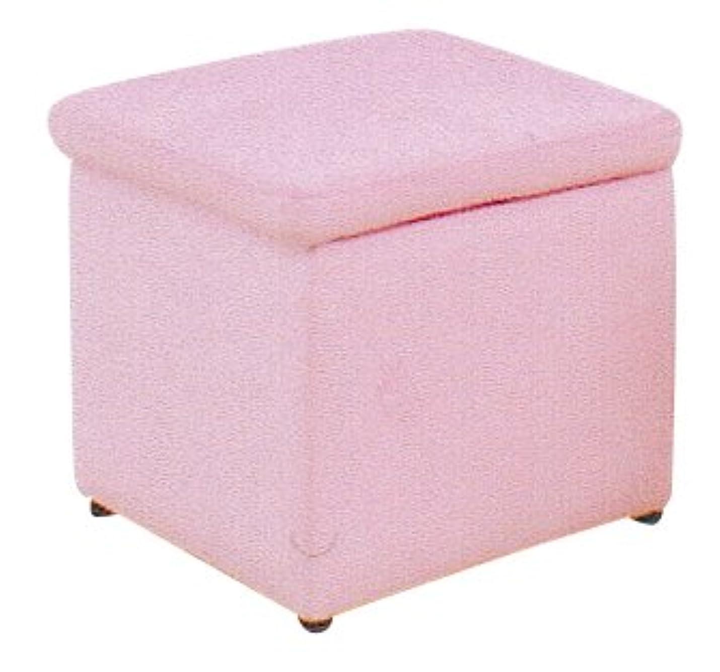 最適箱焦がす家具の大川屋 収納もできるオットマン(スツール)カラー全12色 全面革張り(合成皮革) 【サイズ:幅38cm×奥行38cm×高さ40cm】 カラー:ピンク