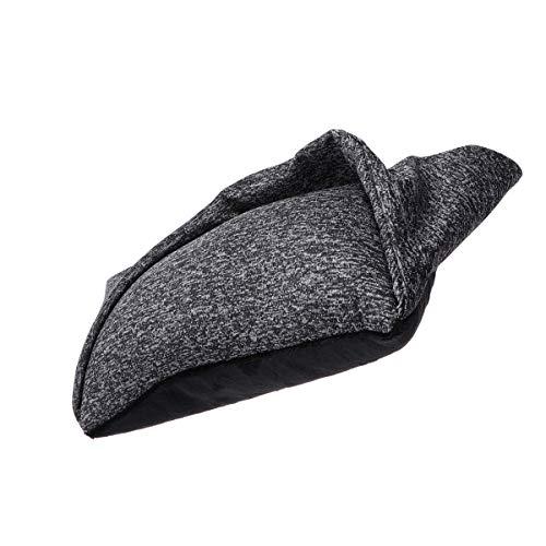 SUPVOX Máscara ocular almohada 2 en 1 almohada de viaje y máscara ocular para aviones automóviles siestas oficina trenes para acampar (gris)