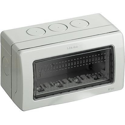 Bticino funda idrobox caja de pared IP55Composta de base y Portello de protección–para carcasa interruptores y enchufes Matix