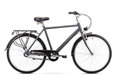 Romet ORION 3S City Bike 26 Zoll Stadtfahrrad Fahrrad Citybike Cruiser Hollandrad Shimano 3 Gang 20 Zoll Aluminium Rahmen anthrazit