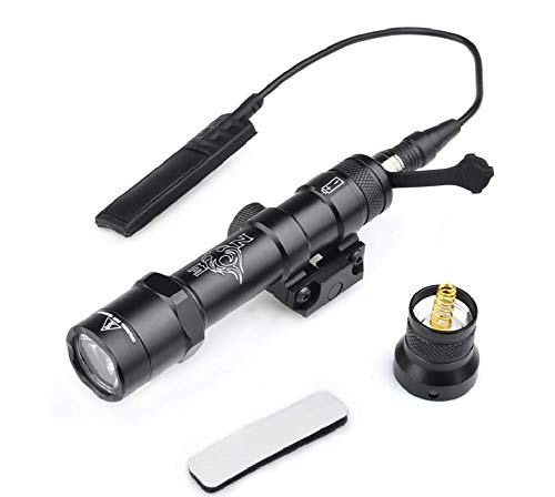 element airsoft 【Tienda Oficial Night-Evolution M600B Mini Scout Light CREE XP-G R5 LED con Segunda generación de Interruptor de Cinta Activado por presión remota Linterna