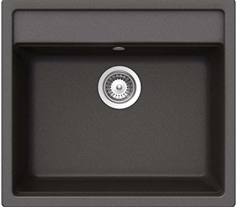 Schock Mono N-100 A Stone Granit Spülbecken Grau metallic Becken Küche Auflage