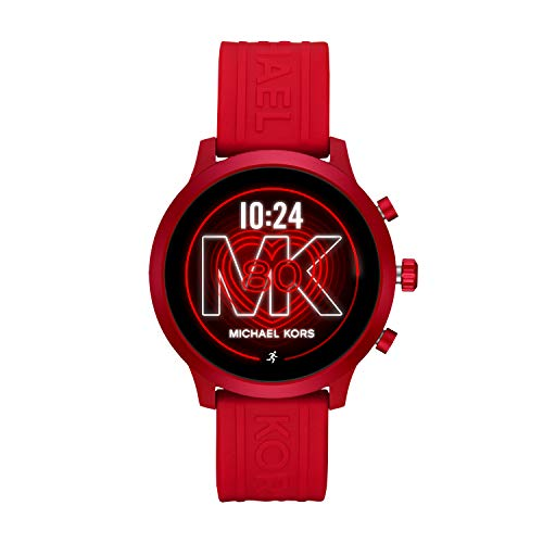 Michael Kors Access  MKGO Touchscreen Aluminum and Silicone Smartwatch, Red-MKT5073