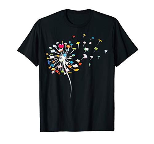 Funny Dandelion Books Gift For Reading Lover Women Girls T-Shirt
