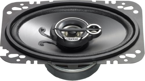 Clarion SRG4633C 4 X 6 Inches Custom Fit Multiaxial 3-Way Speaker System - Set of 2