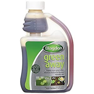 Blagdon Green Away for Ponds, Clears Green Water and Algae, Natural, Plant Friendly, Safe for Fish, 1L