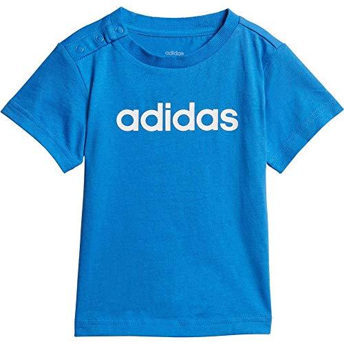 adidas I Lin Camiseta, Unisex bebé, Multicolor (azuaut/Blanco), 74