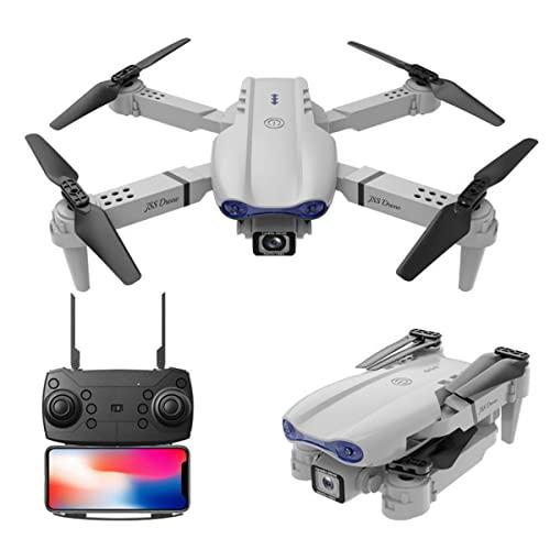 JeeKoudy Drone GPS con Doppia Fotocamera 4K HD per Principianti WiFi FPV Video Live, operazione di Gesto, Segui Smart, 2,4 GHz Mobile RC Pieghevole Quadcopter per Bambini Adulti