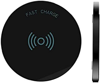 RNDs Fast Charge Wireless Charging Pad for Apple iPhone (Xs, XS Max, XR, X,8, 8 Plus) and Other QI Enabled Devices (AC Adapter NOT Included) (Black)