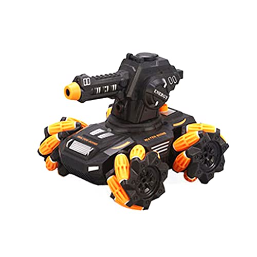 Dreafly Coche Tanque RC Todo Terreno Vehículo eléctrico Bomba de Agua Coche blindado Impermeable con Disparo Giratorio de 180 ° y Vehículo Giratorio de 360 ° Control Remoto Juguete para niños