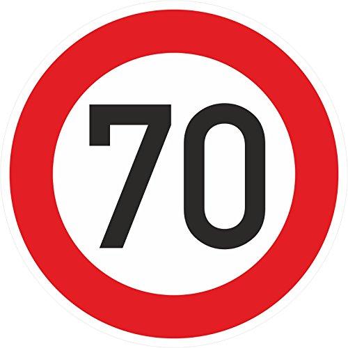 Geburtstagschild 70 Verkehrszeichen Verkehrsschild Straßenschild Geburtstagsschild Schild Geburtstag PVC 40 cm