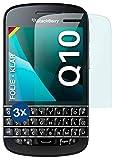 moex Klare Schutzfolie kompatibel mit BlackBerry Q10 - Bildschirmfolie kristallklar, HD Bildschirmschutz, dünne Kratzfeste Folie, 3X Stück