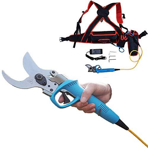 LLSS Professional Elektrogartenschere zum Schneiden von 45 mm Durchmesser 40 V 6 Ah Elektrische Gartenschere zum Schneiden