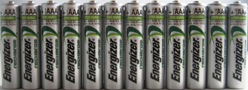 12 x New Energizer AAA Rechargeable NiMH Battery 700 mAh 1.2V