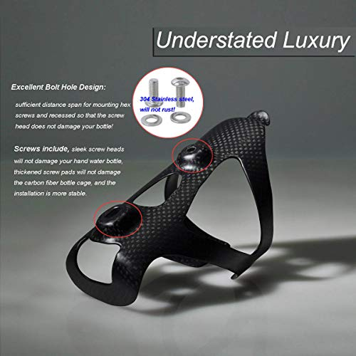 ThinkTop 2 Pack Ultra-Light Full Carbon Fiber Bike Drink Water Bottle Cage Holder Brackets for Bicycle Road Bike MTB Cycling