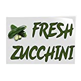 Decal Stickers Multiple Sizes Fresh Zucchini Outdoor Advertising Printing Industrial Vinyl Safety Sign Label...