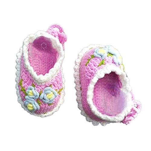 Bastelset Häkelset, Mädchen Babyschue Häkeln, Babyschühchen mit Nähmaterial für kleine Füße häkeln - 10 cm