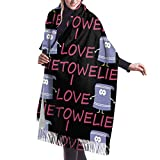 I love Towelie Women's Fall Winter Tassel Scarf Warm Soft Chunky Large Blanket Wrap Shawl Scarves