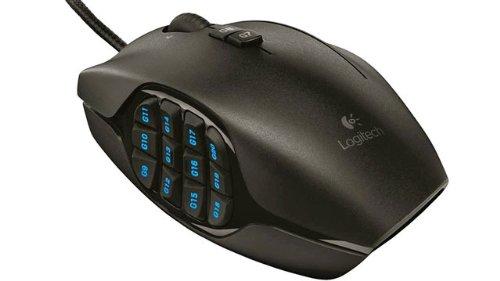 Logitech G600 Optische MMO-Gaming-Maus schnurgebunden (USB, 20 Tasten, 8200 dpi) schwarz