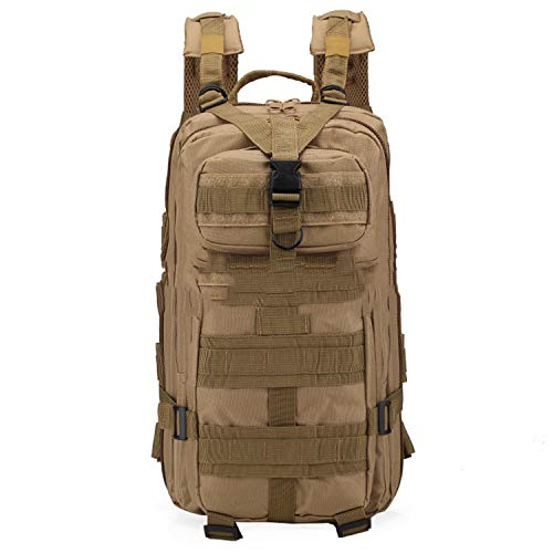 Military Tactical Assault Backpack Rucksacks, 25L Large Capacity Molle Army Pack Bag Go Bag, for Hiking Trekking Camping Travelling Climbing and Other Outdoor Activities