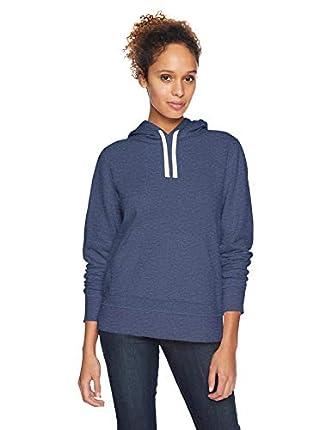 Amazon Essentials – Sudadera de tejido de rizo francés con capucha y forro polar para mujer, Azul (Navy Heather), US S (EU S - M)
