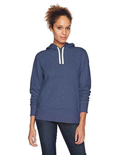 Amazon Essentials – Sudadera de tejido de rizo francés con capucha y forro polar para mujer, Azul (Navy Heather), US L (EU L - XL)