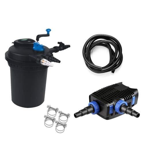 Pondlife Teich Filteranlage Set 13 CPF 10000 Druckfilter 20W Eco Pumpe 10m Schlauch bis 12.000l