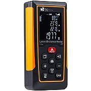 Télémètre Laser 70m EC Technology Mètre Laser Numérique Portable Compteur de Distance Haute Précision de Mesure (Plage de Mesure de 0,05 à 70 m / ± 3 mm) avec Calcule Distance Surface Volume