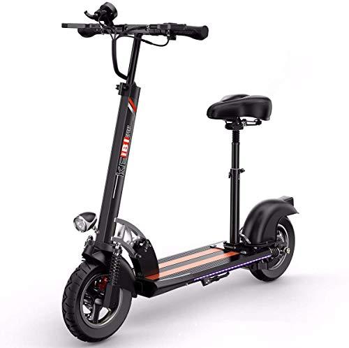 Qfzfei Electric Scooter Plegable, Patinete Eléctrico para Adultos, Motor de 500 W,...