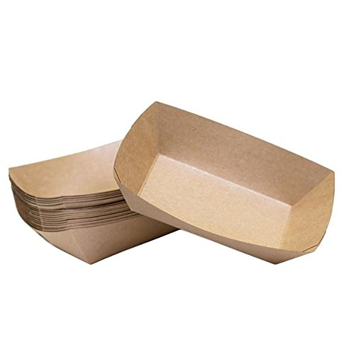 10x Chytaii Boîte Bol Sachet Sac Alimentaire de Papier Kraft Jetable