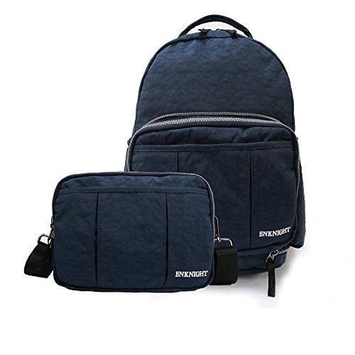 ENKNIGHT Handy Packable Backpack Rucksack Small Day Bag women`s Cross body Bag for Travel (Navy)