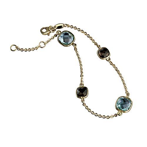 Celesta Gold Damen Armband 375/- Gold 18+2cm Glänzend Blautopas (beh) gelb 324360150-3