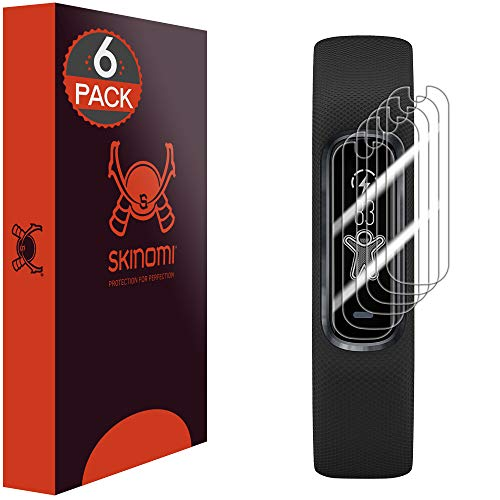 Skinomi Screen Protector Compatible with Garmin Vivosmart 4 (6-Pack) Clear TechSkin TPU Anti-Bubble HD Film