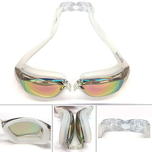IKING Swim Goggles Gafas de natación para Adultos Hombres Mujeres jóvenes niños protección UV, tecnología antiniebla (Suerte)