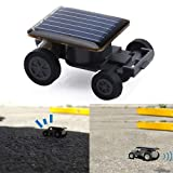 Anniston Kids Toys, Solar Power Mini Toy Car Cool Racer Popular Funny Electric Toys Gadget Gift DIY Toys for Children Toddlers Boys Girls