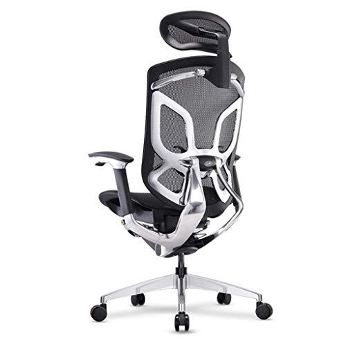 Office Life Stuhl Ergonomischer Stuhl, Liegestuhl, Bürostuhl, Gaming Stuhl, Boss Stuhl, Taillenschutz Drehstuhl (Farbe: Weiß)
