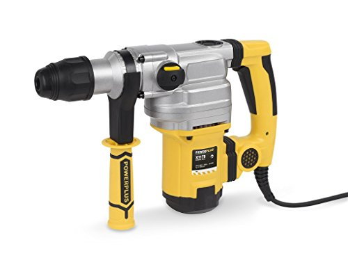 Powerplus powx1178 1050 W 480rpm SDS Max Rotary Hammer – Bohrhammer (Black, Silver, Yellow, 220 – 240, 135 mm, 450 mm, 370 mm, 11 kg)