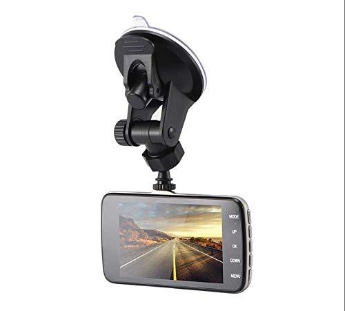 Dash Cam 4 inch groot display dubbele camera voor en achter voor auto, ondersteunt tot 32 GB intelligente chip, bewegingsmelder, G-sensor, parkeermonitor
