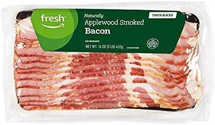 Fresh Brand – Thick Sliced Applewood Smoked Bacon, 16 oz
